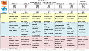 Fall Winter Menu